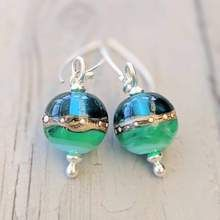 Deep Blue Sea Ball Drop Earrings