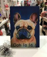 Ooh La La French Bulldog by Kathy Rondel