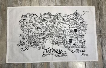 Jersey 45 Square Miles Tea Towel