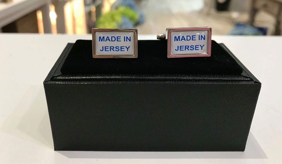 Made in Jersey Blue Cufflink