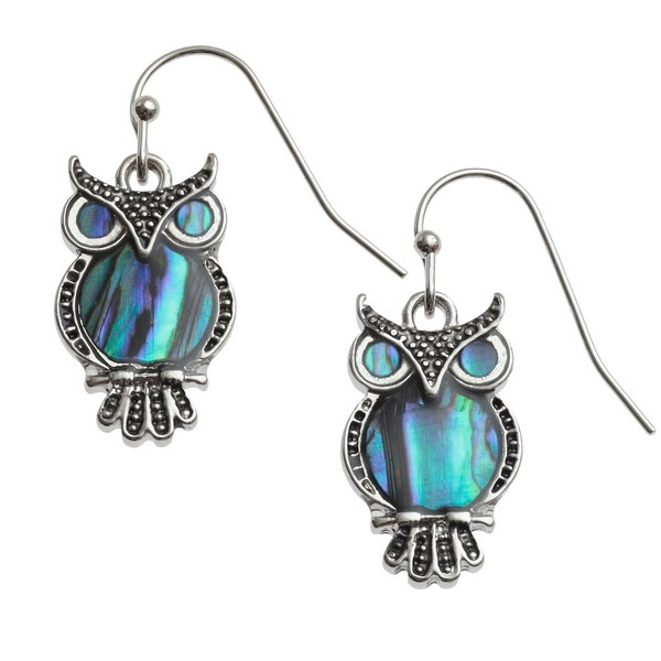 Owl Drop Earrings