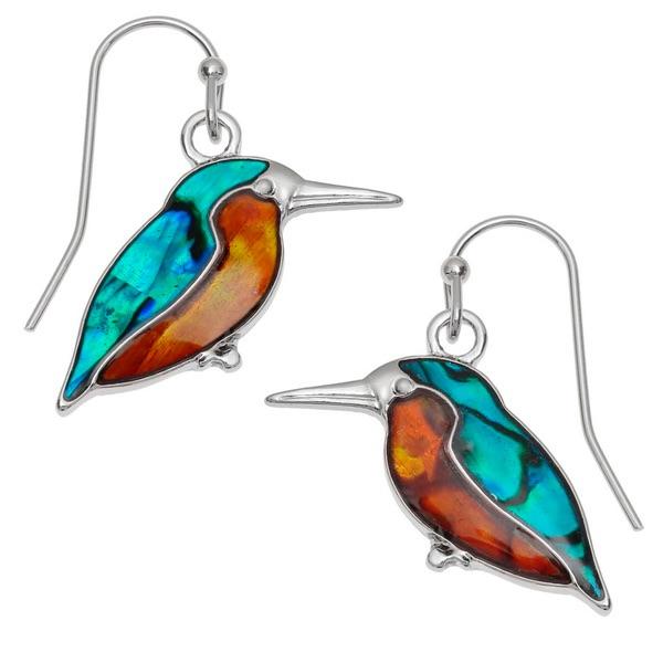 Kingfisher Blue & Orange Drop Earrings