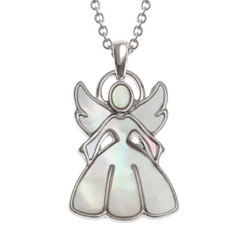 Mother of Pearl Angel Pendant