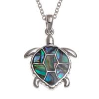 Sea Turtle Paua Shell Pendant