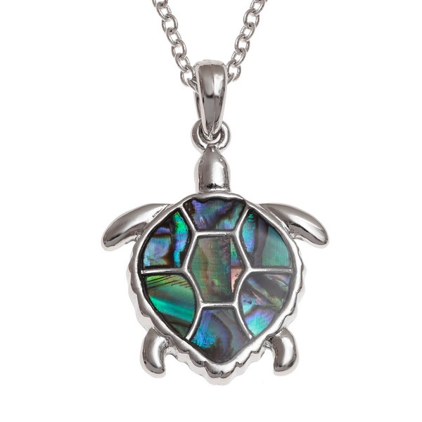 Sea Turtle Paua Shell Pendant