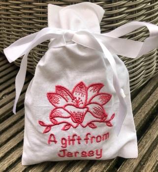 Jersey Lily Lavender Bag