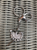 Diamanté Ballerina Keyring