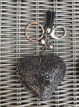 Sparkly Heart Keyring