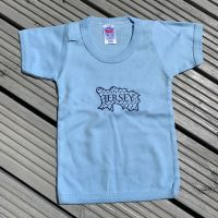 Jersey Map Baby T Shirt Sky/Navy Print 18-24 Mnths Only