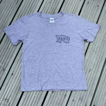 Jersey Map T Shirt  Grey/Navy Print