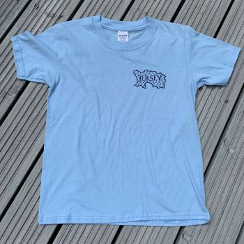Jersey Map T Shirt   Sky/Navy Print