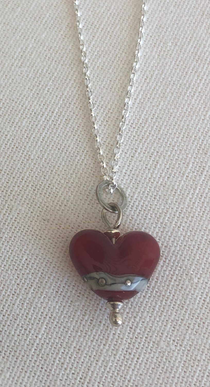 Shoreline Heart Pendant Small