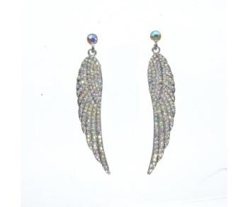 Long Angel Wing Drop Earrings