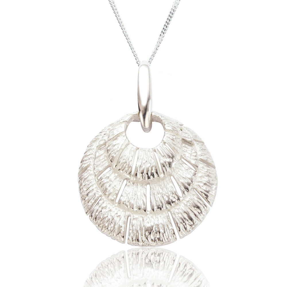 Annabel Silver Shell Pendant -Silver