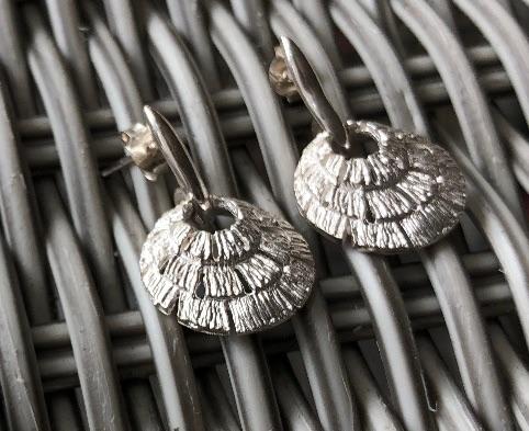 Annabel Silver Shell Drop Earrings
