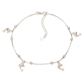 Sterling Silver Dolphin Ankle Bracelet