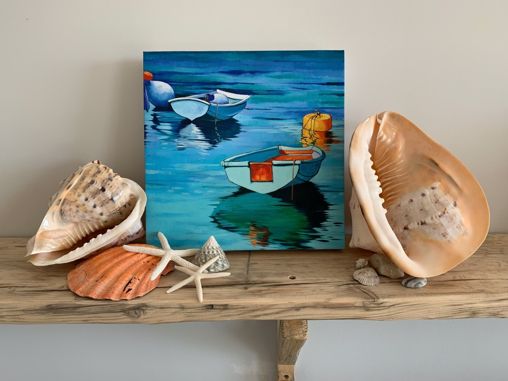 Two Jersey Boats [ No.3] by Kathy Rondel