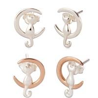 Cici Moon & Cat Ear Studs