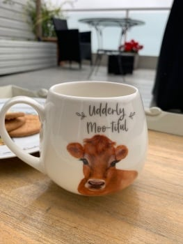 Mootiful Jersey Cow Ceramic Mug