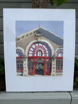 Central Market Limited Edition & Signed Print by Ian Rolls
