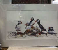 Puffin Party Small Print by Rosemary Blackmore AVAILABLE TO ORDER NOW