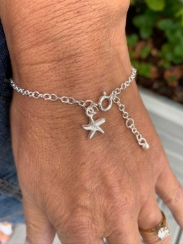 Starfish Charm Chain Link Bracelet - By Lisa Le Brocq