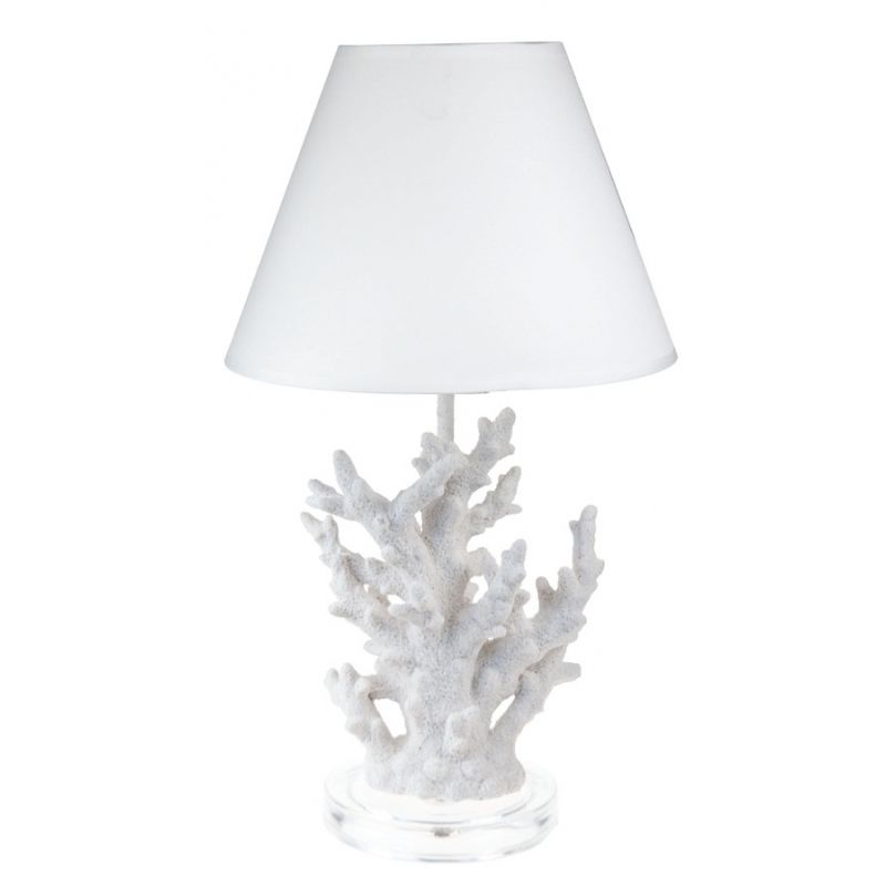 Faux Coral Lamp and Shade