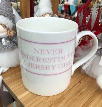 Never Underestimate A Jersey Girl Mug
