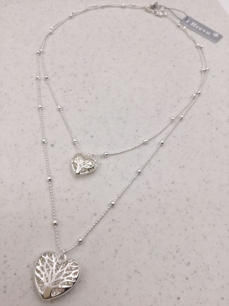 Tree of Life Double Heart Necklace