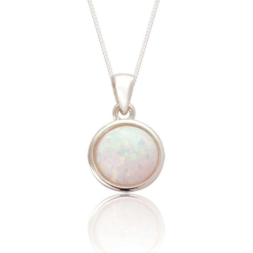 Jemima Pendant White Opalescent
