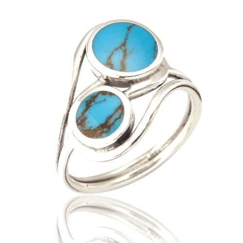 Meghan 2 Stone Twist Ring