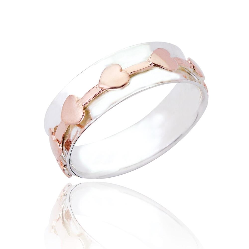 Rose Gold Heart Spinning Ring