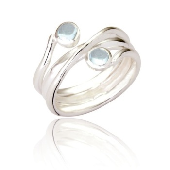 Jennie 2 Stone Wrap Ring