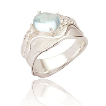 Matilda Single Oval Stone Statement Ring