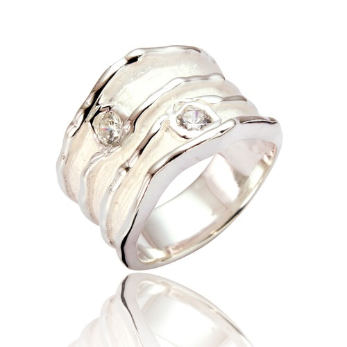 Joni 2 Stone Wide Statment Ring