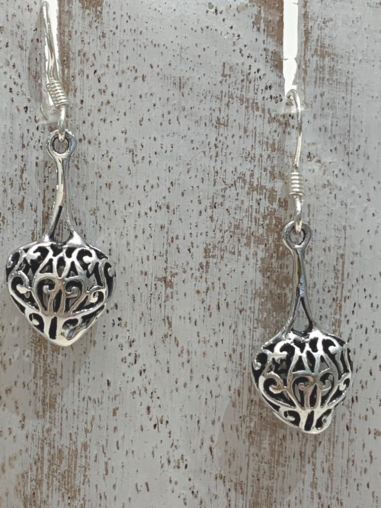 Anka Small Celtic Cushion Heart Drop Earring