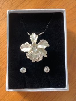 Diamante Orchid Pendant