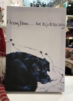 So Cosy!  Labrador Print by Kathy Rondel
