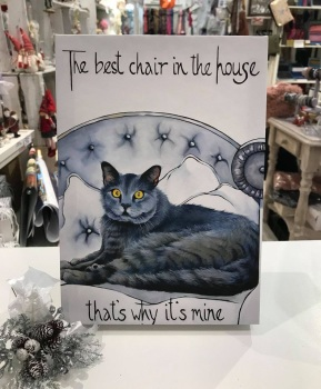Best Chair in House Cat Print by Kathy Rondel