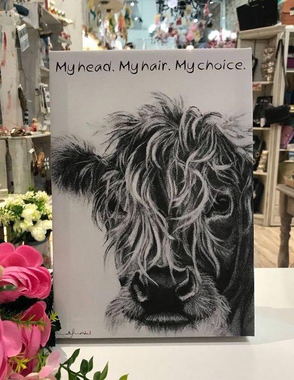My Head, My Hair, My Choice- Animal Print by Kathy Rondel