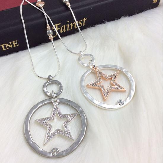 Diamante Star & Circle Pendant