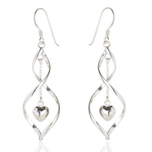 Samantha Heart Drop Twist Earrings