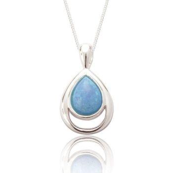 Xanna Blue Opal Teardrop Pendant