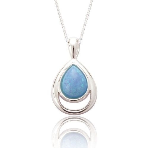 Xante Blue Opal Teardrop Pendant