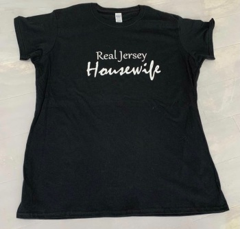 Real Jersey Housewife Black Slim Fit Tee Shirt