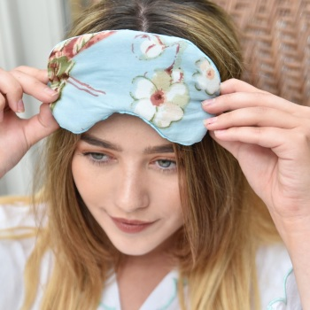 Blossom Print Eye Mask - CHOICE OF COLOURS