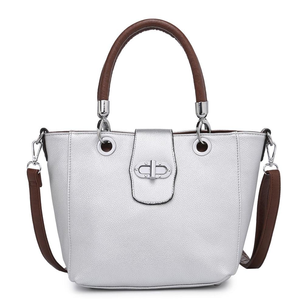 Buckle Bag with Shoulder Strap - Silver