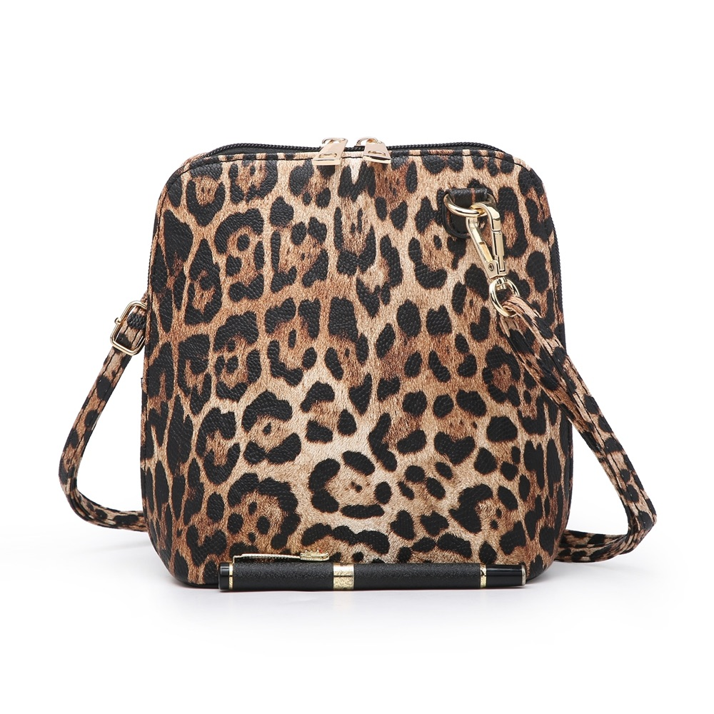 Small Leopard Print Cross Body Bag Brown - MORE COLOURS AVAILABLE