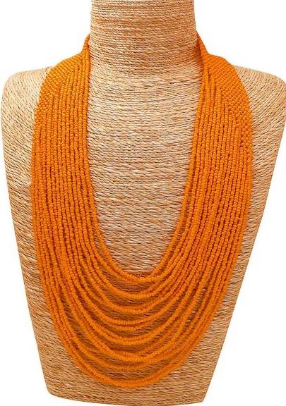 Waterfall Necklace Orange - MORE COLOURS AVAILABLE