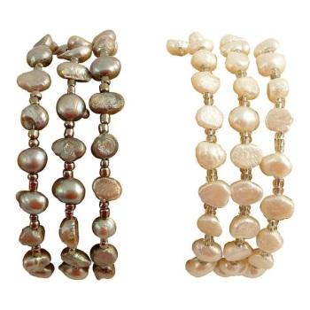 Pearl Wrap Bracelet - MORE COLOURS AVAILABLE